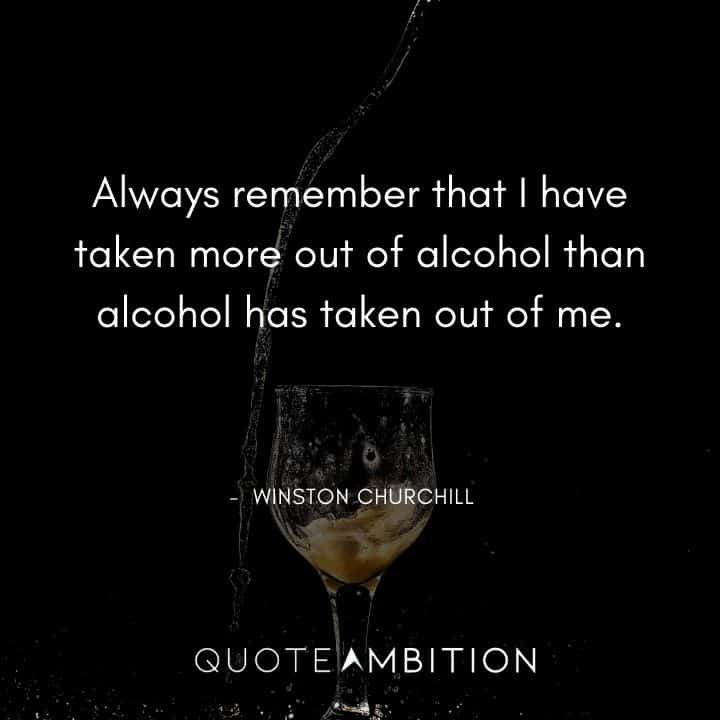 Winston Churchill Quotes About Alcohol