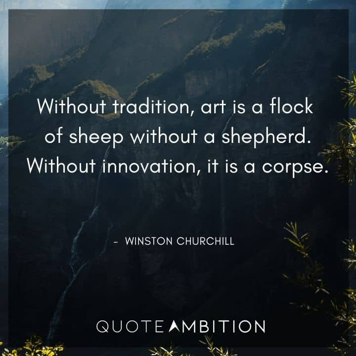 Winston Churchill Quotes About Art