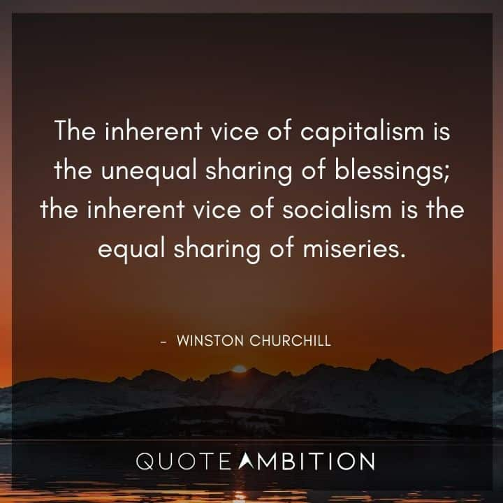 Winston Churchill Quotes About Capitalism