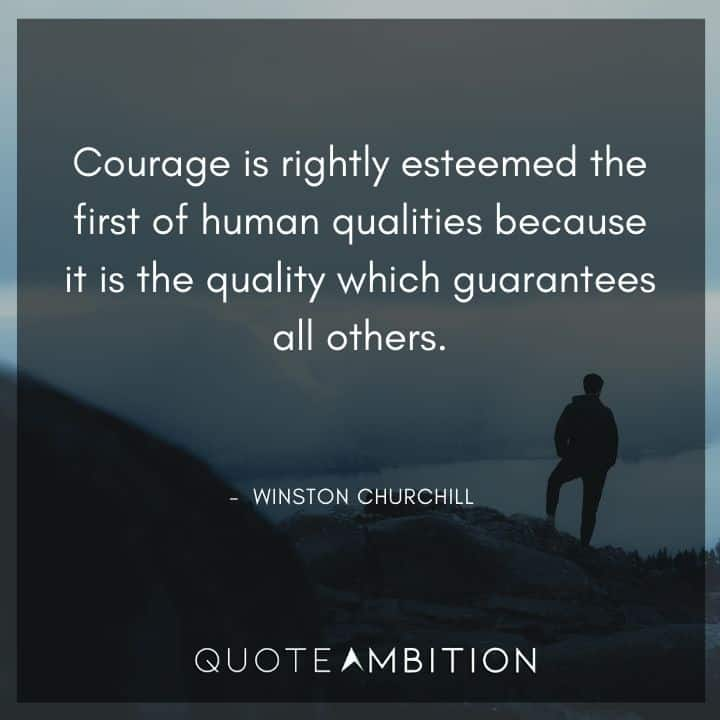Winston Churchill Quotes on Courage