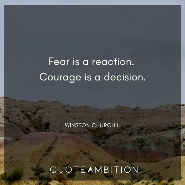 Winston Churchill Quotes on Fear