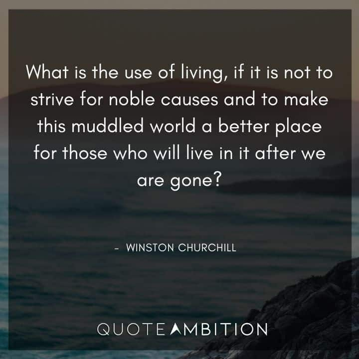 Winston Churchill Quotes on Living