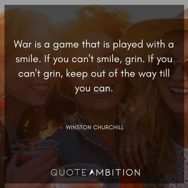 Winston Churchill Quotes About War