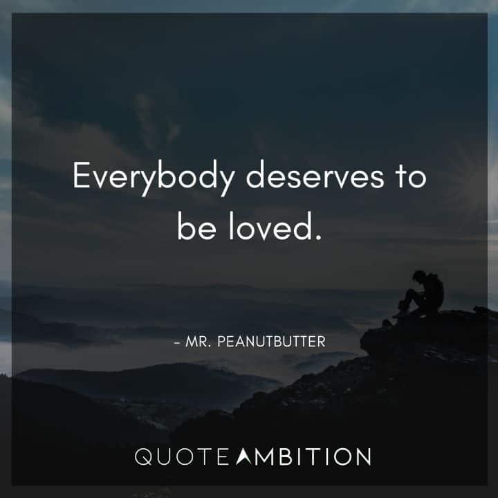 BoJack Horseman Quote - Everybody deserves to be loved.
