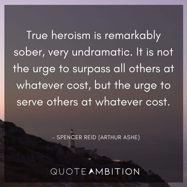Criminal Minds Quote - True heroism is remarkably sober, very undramatic.