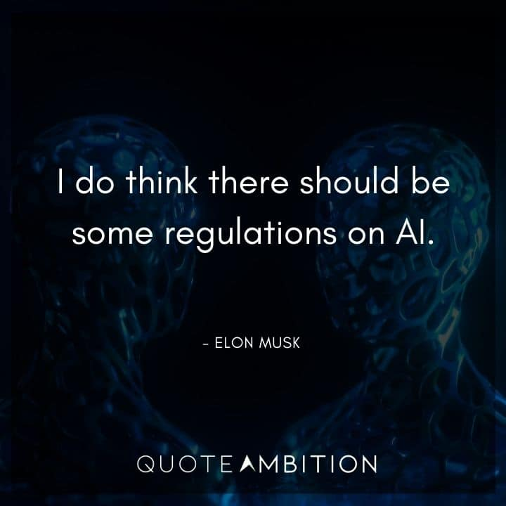 Elon Musk Quote - I do think there should be some regulations on AI.