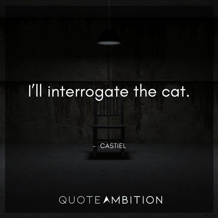 Supernatural Quote -I'll interrogate the cat.