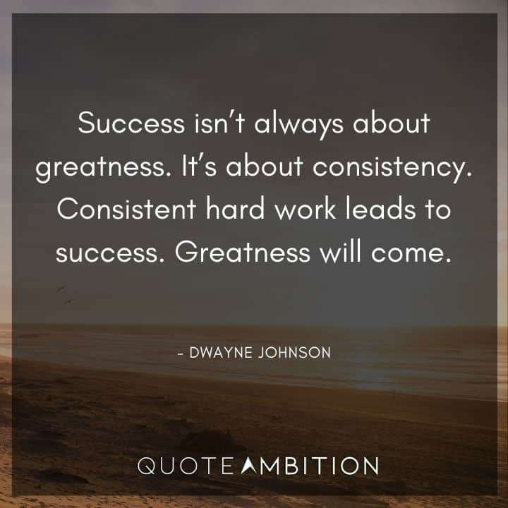 Consistency Quotes - Success isn't always about greatness. It's about consistency.