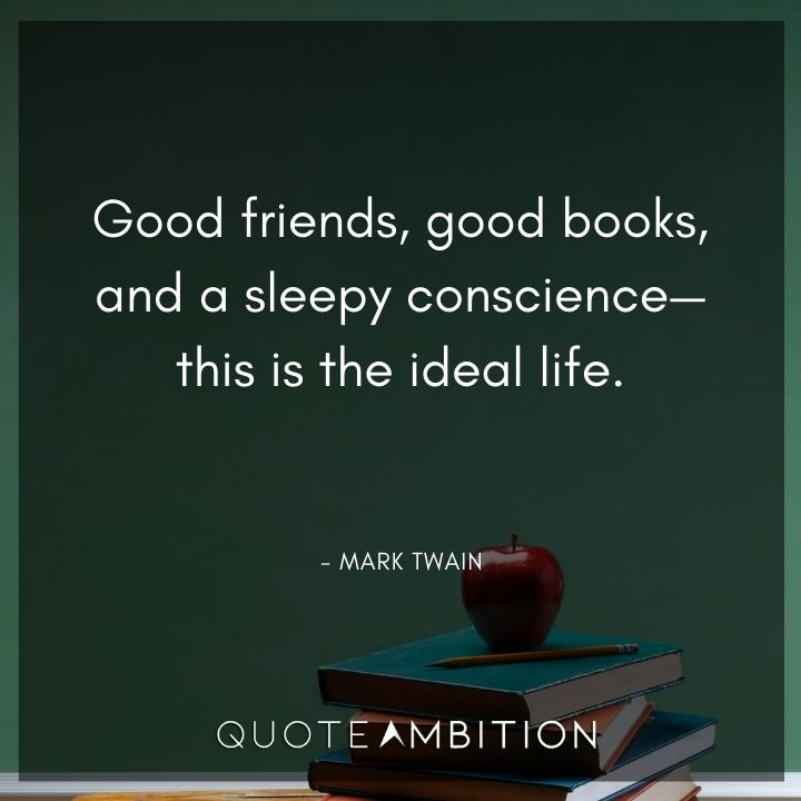 Mark Twain Quotes About Friends and Books
