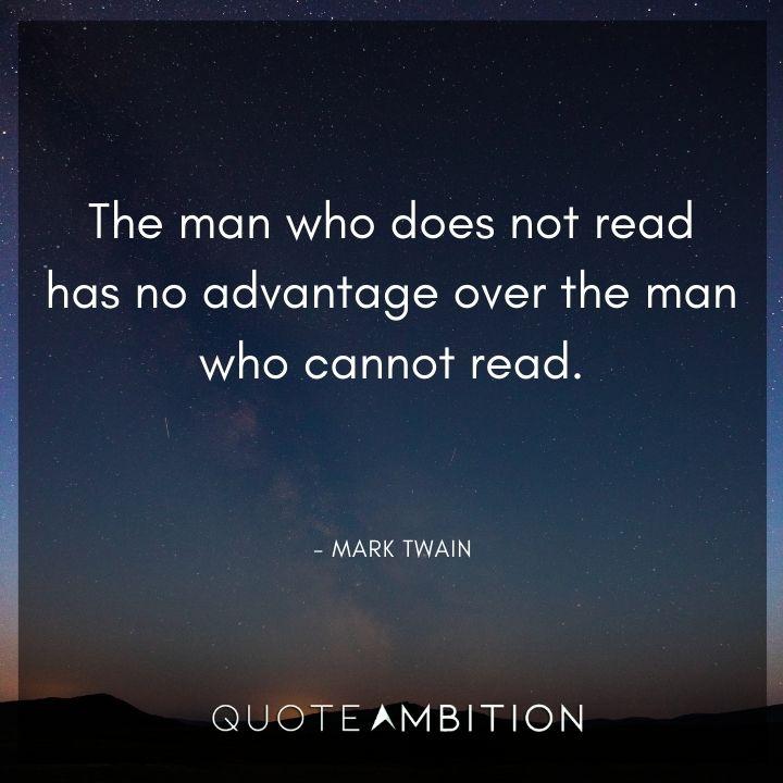 Mark Twain Quotes on Reading