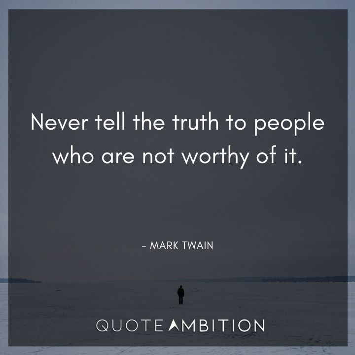 Mark Twain Quotes on Telling the Truth